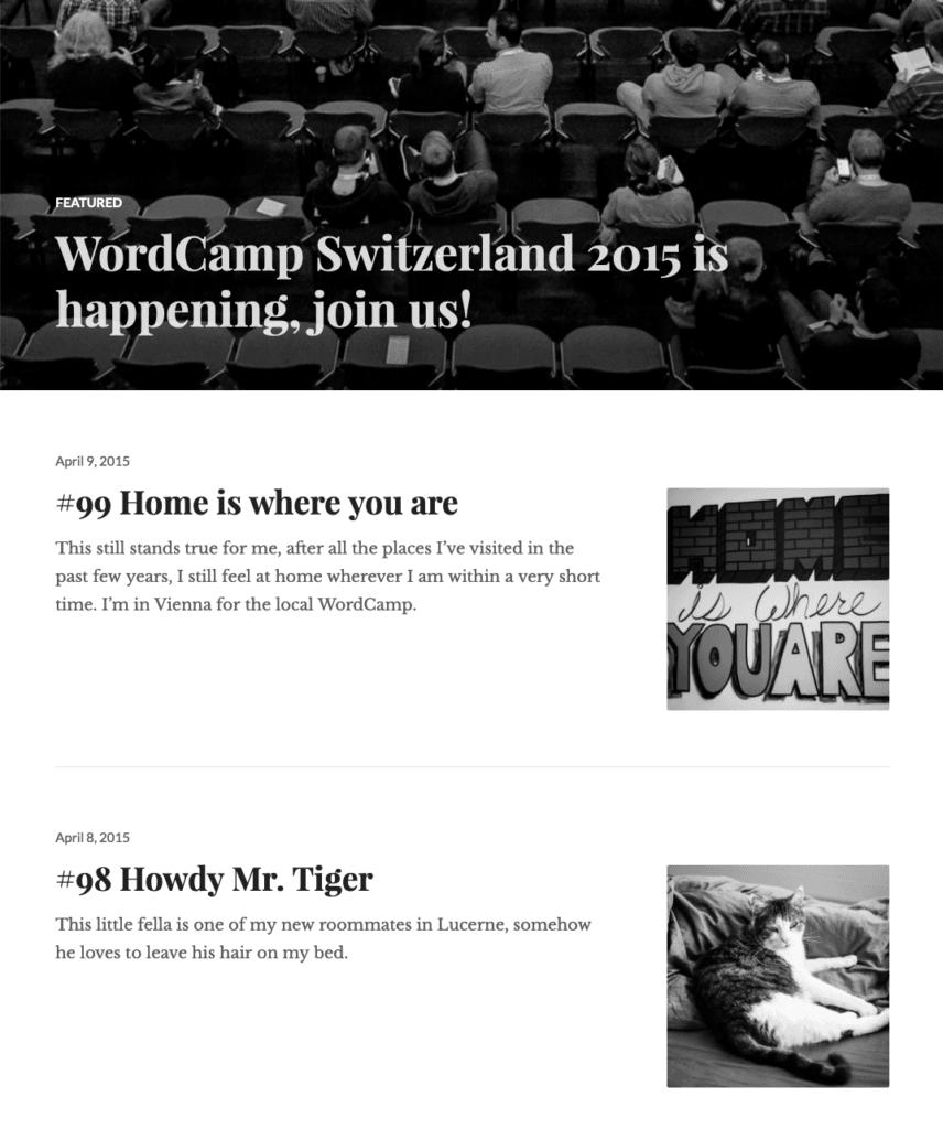 Screenshot von meinem Blog aus dem Jahre 2015
